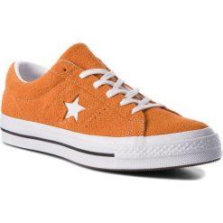 Tenisówki CONVERSE - One Star Ox 161574C Bold Mandarine/White/White. Brązowe trampki męskie Converse, z gumy. W wyprzedaży za 279.00 zł.