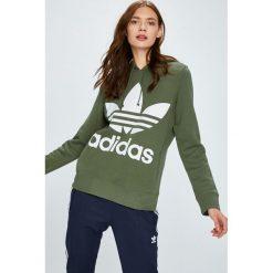 Adidas Originals - Bluza. Szare bluzy damskie adidas Originals, z nadrukiem, z bawełny. W wyprzedaży za 219.90 zł.