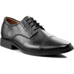 Półbuty CLARKS - Tilden Cap 261103097 Black Leather. Czarne eleganckie półbuty Clarks, z gumy. Za 31