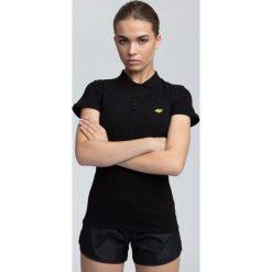 Koszulka polo damska TSD017 - czarny. Czarne koszulki sportowe damskie 4f, z bawełny, polo. W wyprzedaży za 54.99 zł.