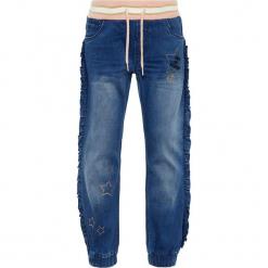 """Dżinsy """"Rie"""" - Regular fit - w kolorze niebieskim. Niebieskie jeansy dla dziewczynek Name it Kids, z materiału. W wyprzedaży za 65.95 zł."""