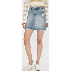 Tommy Jeans - Spódnica. Szare spódnice damskie Tommy Jeans, z bawełny. W wyprzedaży za 279.90 zł.