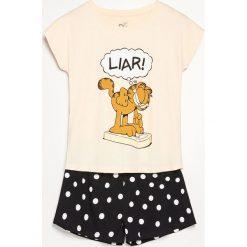 Dwuczęściowa piżama Garfield - Beżowy. Brązowe piżamy damskie Reserved. Za 59.99 zł.