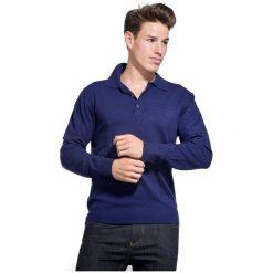 William De Faye Sweter Męski Xxl Ciemny Niebieski. Niebieskie swetry przez głowę męskie William de Faye, z kaszmiru, z klasycznym kołnierzykiem. W wyprzedaży za 215.00 zł.