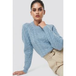 Samsoe & Samsoe Sweter Carola O-N - Blue. Niebieskie swetry damskie Samsøe & Samsøe, z dzianiny, z okrągłym kołnierzem. Za 647.95 zł.