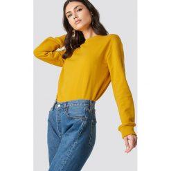 NA-KD Basic Bluza basic - Yellow. Żółte bluzy damskie NA-KD Basic, prążkowane. Za 80.95 zł.