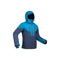 Kurtka narciarska SKI-P JKT 900 WARM męska. Niebieskie kurtki męskie WED'ZE, z puchu. Za 599.99 zł.
