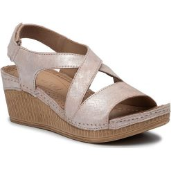 Różowe sandały damskie Lasocki, bez obcasa, na obcasie