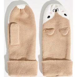 Rękawiczki z jednym palcem - Beżowy. Brązowe rękawiczki damskie Sinsay. Za 24.99 zł.