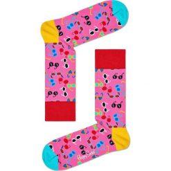 Happy Socks - Skarpetki Shades. Różowe skarpety damskie Happy Socks, z bawełny. W wyprzedaży za 29.90 zł.
