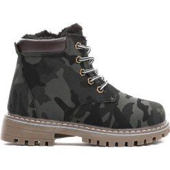 Czarne Traperki Piece Of Me. Czarne buty zimowe chłopięce Born2be, z materiału. Za 69.99 zł.