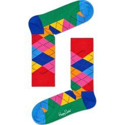 Happy Socks - Skarpety Argyle. Różowe skarpety męskie Happy Socks, z bawełny. Za 39.90 zł.