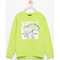 Bluza z nadrukiem - Zielony. Bluzy dla chłopców Reserved, z nadrukiem. W wyprzedaży za 19.99 zł.