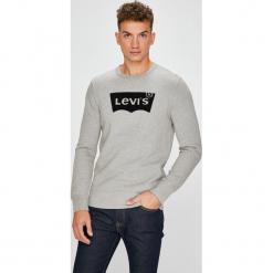 Levi's - Bluza. Brązowe bluzy męskie Levi's, z aplikacjami, z bawełny. Za 259.90 zł.