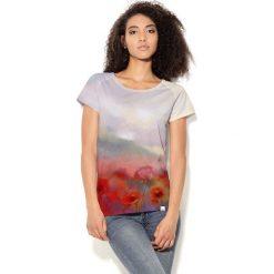Colour Pleasure Koszulka CP-034  55 beżowo-czerwono-zielona r. XXXL-XXXXL. Bluzki damskie Colour Pleasure. Za 70.35 zł.