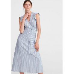 55c55b9ef3 Dzianinowa sukienka - Niebieski. Sukienki damskie marki Reserved. Za 89.99  zł.