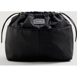 Mango - Torebka Lole. Czarne torebki do ręki damskie Mango, z materiału. Za 49.90 zł.