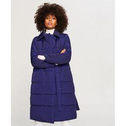 Pikowany płaszcz - Niebieski. Niebieskie płaszcze damskie Reserved. Za 299.99 zł.