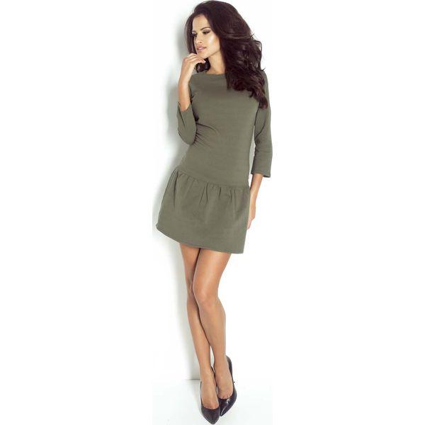 a4de377c6b Khaki Sukienka Mini z Falbanką - Sukienki damskie marki Molly.pl. Za ...