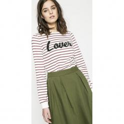 Vero Moda - Bluza Girls. Szare bluzy damskie Vero Moda, z aplikacjami, z bawełny. W wyprzedaży za 49.90 zł.
