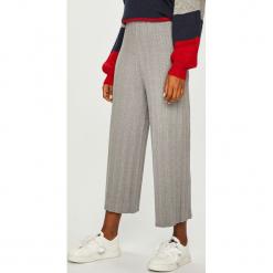 Answear - Spodnie. Szare spodnie materiałowe damskie ANSWEAR, z dzianiny. Za 149.90 zł.