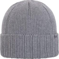 Czapka męska CAM258Z - ciemny szary melanż. Szare czapki i kapelusze męskie marki Giacomo Conti, na zimę, z tkaniny. Za 44.99 zł.