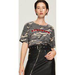 T-shirt camo - Wielobarwn. Zielone t-shirty damskie Sinsay. Za 29.99 zł.