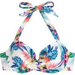 """Biustonosz bikini """"Fiji"""" w kolorze białym ze wzorem. Biustonosze Dorina. W wyprzedaży za 34.95 zł."""