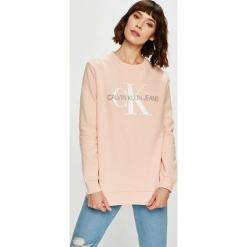 Calvin Klein Jeans - Bluza J20J207830. Szare bluzy damskie Calvin Klein Jeans, z nadrukiem, z dzianiny. Za 399.90 zł.
