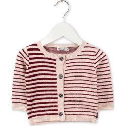 Kardigan w kolorze beżowo-czerwonym. Swetry dla chłopców marki bonprix. W wyprzedaży za 87.95 zł.