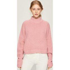 Sweter z geometrycznym wzorem - Różowy. Swetry damskie marki bonprix. Za 49.99 zł.