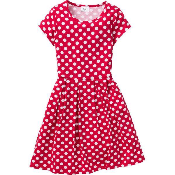 a41d45eb94 Sukienka shirtowa w groszki bonprix czerwono-biały w groszki ...