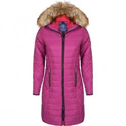 Płaszcz zimowy w kolorze różowym. Czerwone płaszcze damskie Giorgio di Mare, na zimę, z materiału. W wyprzedaży za 347.95 zł.