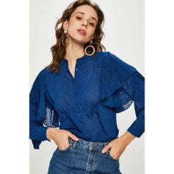 Pepe Jeans - Koszula. Niebieskie koszule damskie Pepe Jeans, z jeansu, casualowe, ze stójką, z długim rękawem. Za 319.90 zł.