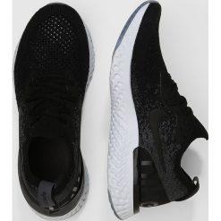 Nike Performance EPIC REACT FLYKNIT Obuwie do biegania treningowe black/dark grey/pure platinum. Buty sportowe chłopięce Nike Performance, z materiału. Za 549.00 zł.