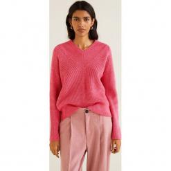 Mango - Sweter Brisbane. Różowe swetry damskie Mango, z dzianiny. Za 139.90 zł.