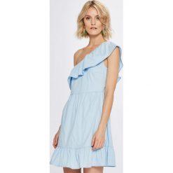 Vero Moda - Sukienka. Różowe sukienki damskie Vero Moda, z bawełny, casualowe. W wyprzedaży za 89.90 zł.