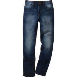 Dżinsy ze stretchem Classic Fit Straight bonprix ciemnoniebieski. Niebieskie jeansy męskie bonprix. Za 109.99 zł.