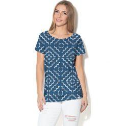 Colour Pleasure Koszulka CP-034  181 granatowo-biała r.  XXXL/XXXXL. T-shirty damskie Colour Pleasure. Za 70.35 zł.