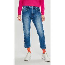 Pepe Jeans - Jeansy Brigade Track. Niebieskie jeansy damskie Pepe Jeans. Za 439.90 zł.