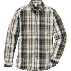 Koszula w kratę Regular Fit bonprix ciemnooliwkowy w kratę. Zielone koszule męskie bonprix. Za 74.99 zł.