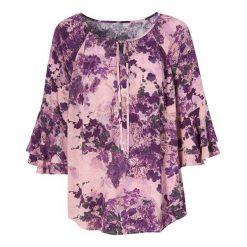 Różowe bluzki i tuniki damskie z falbankami Kolekcja lato