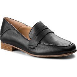 Półbuty CLARKS - Pure Iris 261379504 Black Leather. Czarne półbuty damskie Clarks, ze skóry. W wyprzedaży za 319.00 zł.