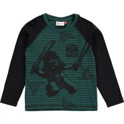"""Koszulka """"Thomas 718"""" w kolorze niebieskim. Zielone t-shirty dla chłopców marki Lego Wear Fashion, w paski, z długim rękawem. W wyprzedaży za 65.95 zł."""