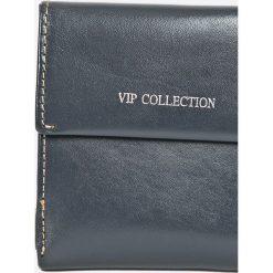 VIP COLLECTION - Portfel skórzany. Szare portfele damskie VIP COLLECTION, z materiału. W wyprzedaży za 59.90 zł.