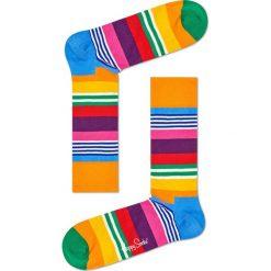 Happy Socks - Skarpetki Multi Stripe. Pomarańczowe skarpety damskie Happy Socks, z bawełny. Za 39.90 zł.