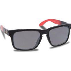 Okulary przeciwsłoneczne OAKLEY - Holbrook OO9102-D355 Ruby Fade/Prizm Black Polarized. Czarne okulary przeciwsłoneczne męskie Oakley, z tworzywa sztucznego. W wyprzedaży za 649.00 zł.