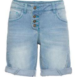 """Szorty dżinsowe bonprix jasnoniebieski """"bleached"""". Szorty damskie marki KIPSTA. Za 129.99 zł."""