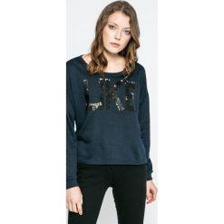 Vero Moda - Bluza Diddle. Czarne bluzy damskie Vero Moda, z aplikacjami, z bawełny. W wyprzedaży za 49.90 zł.