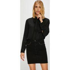 Pepe Jeans - Koszula Lucia. Czarne koszule damskie Pepe Jeans, z jeansu, casualowe, z długim rękawem. Za 299.90 zł.